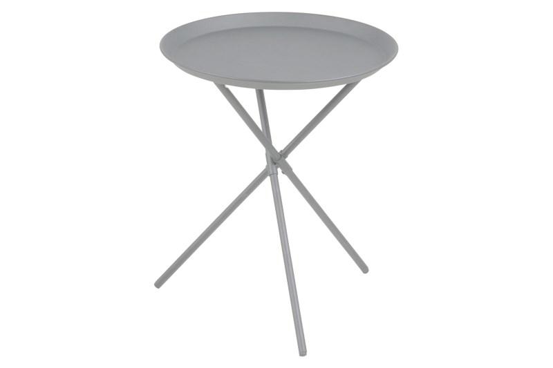 Image of   Clipston hjørnebord - grå metal, rundt (Ø:38,5)