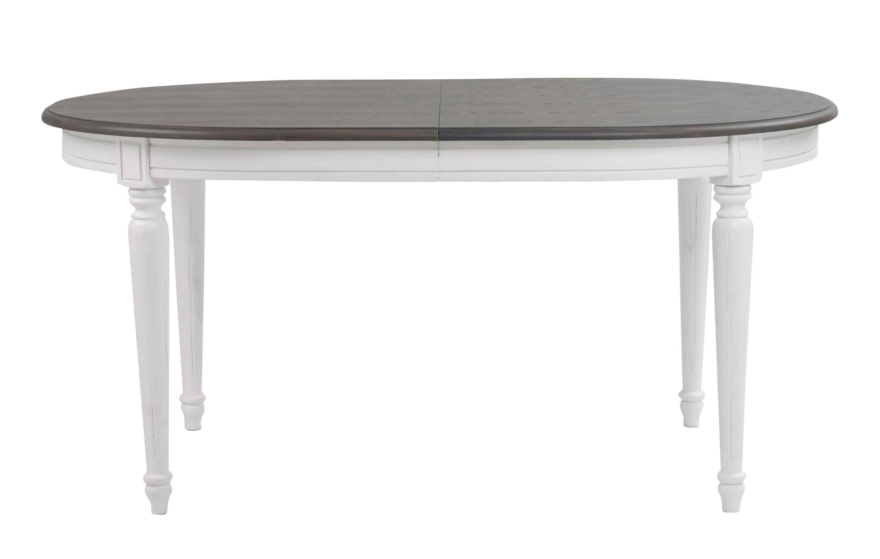 Viktoria spisebord - Grå bordplade, ovalt 160x105