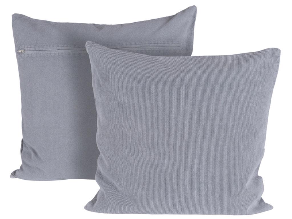 canett – Canett chandra pude - lysegrå stof, håndlavet fra boboonline.dk