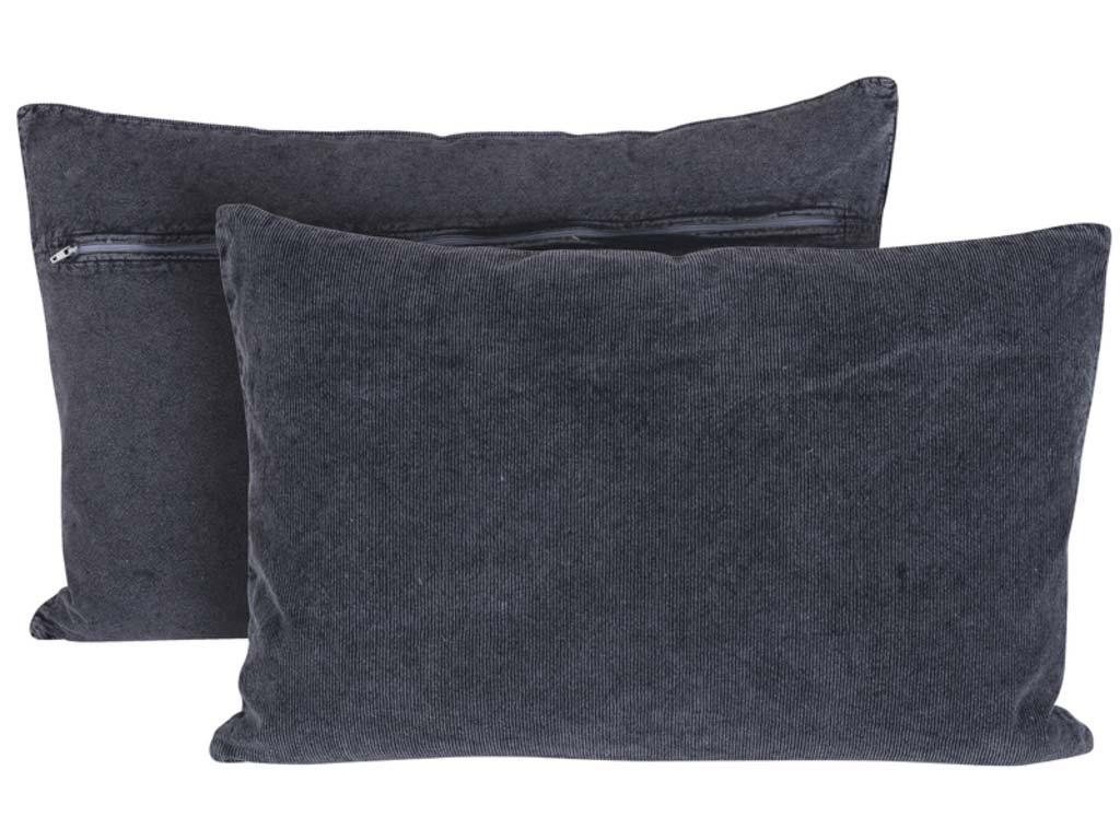 Canett chandra pude - grå stof, håndlavet fra canett på boboonline.dk