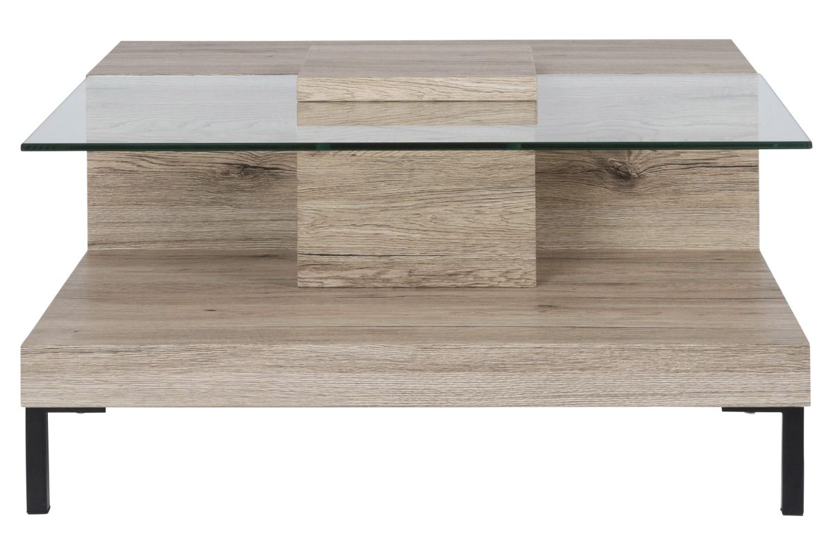 Canett toronto sofabord m. glasbordplade fra canett fra boboonline.dk