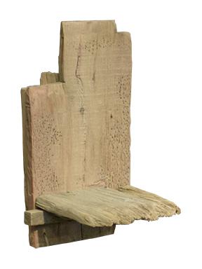 RGE Woody vægreol - naturfarvet træ og genbrugstræ, (33x22cm)