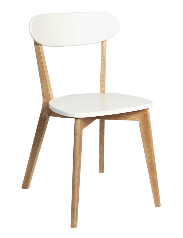 Billede af Arild spisebordsstol - hvid/eg