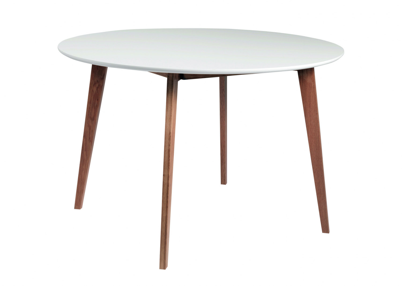 Image of   Arild spisebord - hvid/lakeret eg, rund (Ø115)