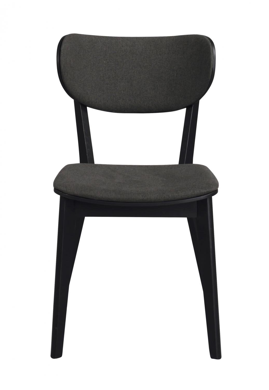 Image of   Cato spisebordsstol - sort eg og gråt stof