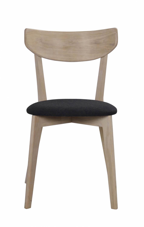 Image of   Ami spisebordsstol - hvidpigmenteret eg og mørkegråt filt