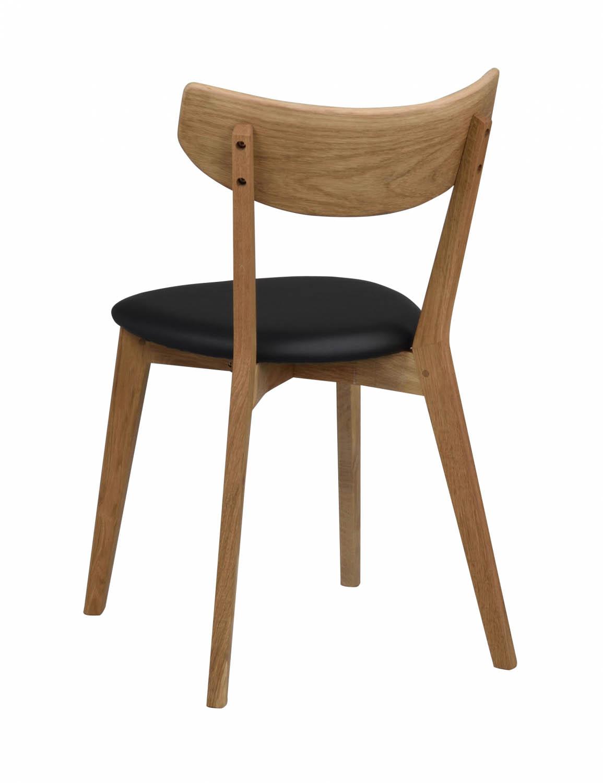Picture of: Rowico Ami Spisebordsstol Lakeret Eg Og Sort Pu Laeder Spisebordsstole Bobo Mobler Boligtilbehor Og Indretning Til Hjemmet
