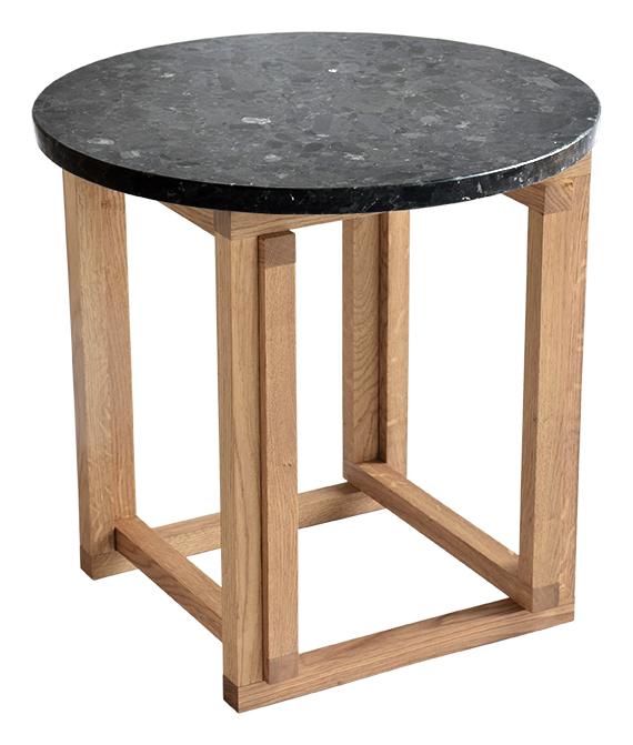 Image of   Accent sofabord - granit og eg (Ø 50)