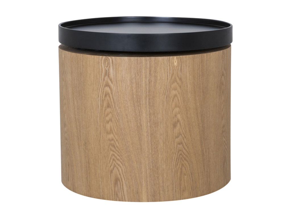 Image of   CANETT Odnes sofabord - natur/sort, rund