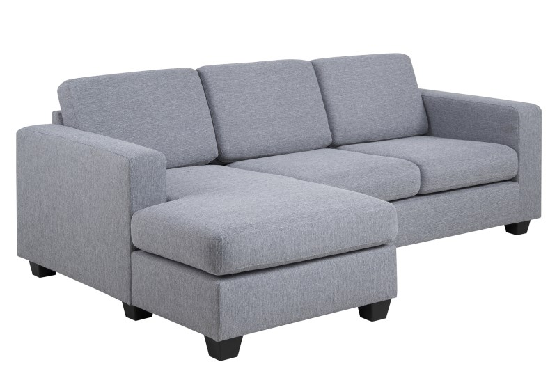 Wyoming 2 pers. sofa - lysegrå stof, m. chaise i venstre