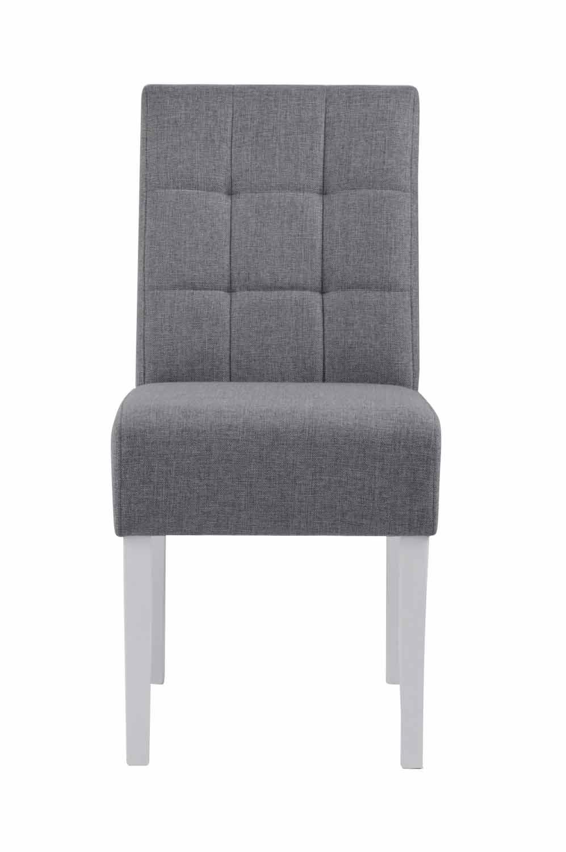 Leila spisebordsstol - grå/hvid