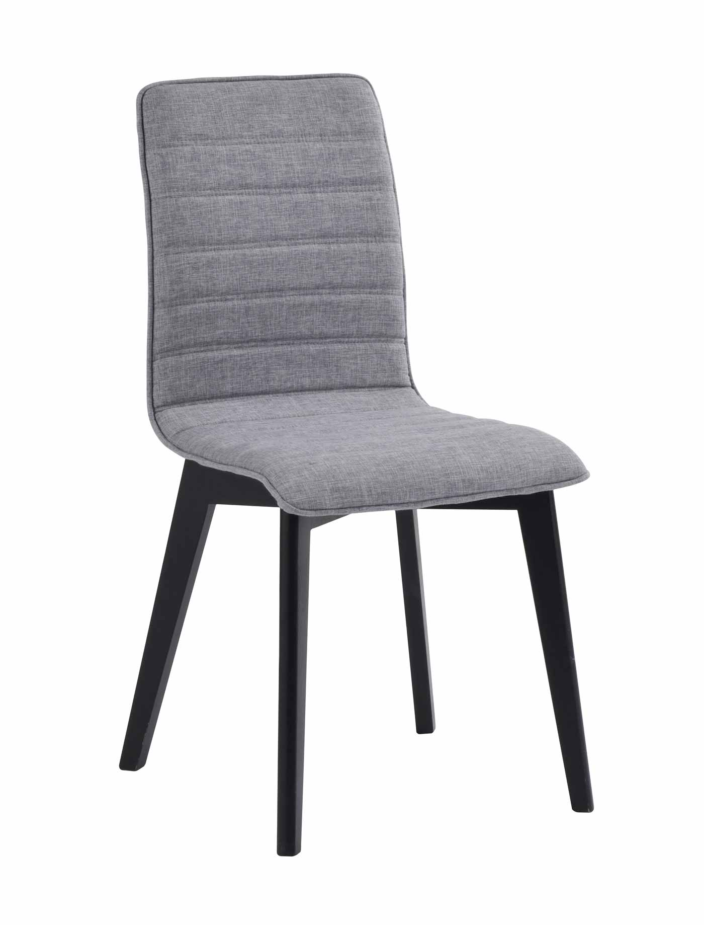 ROWICO Grace spisebordsstol - lysegråt stof/sortlakeret eg
