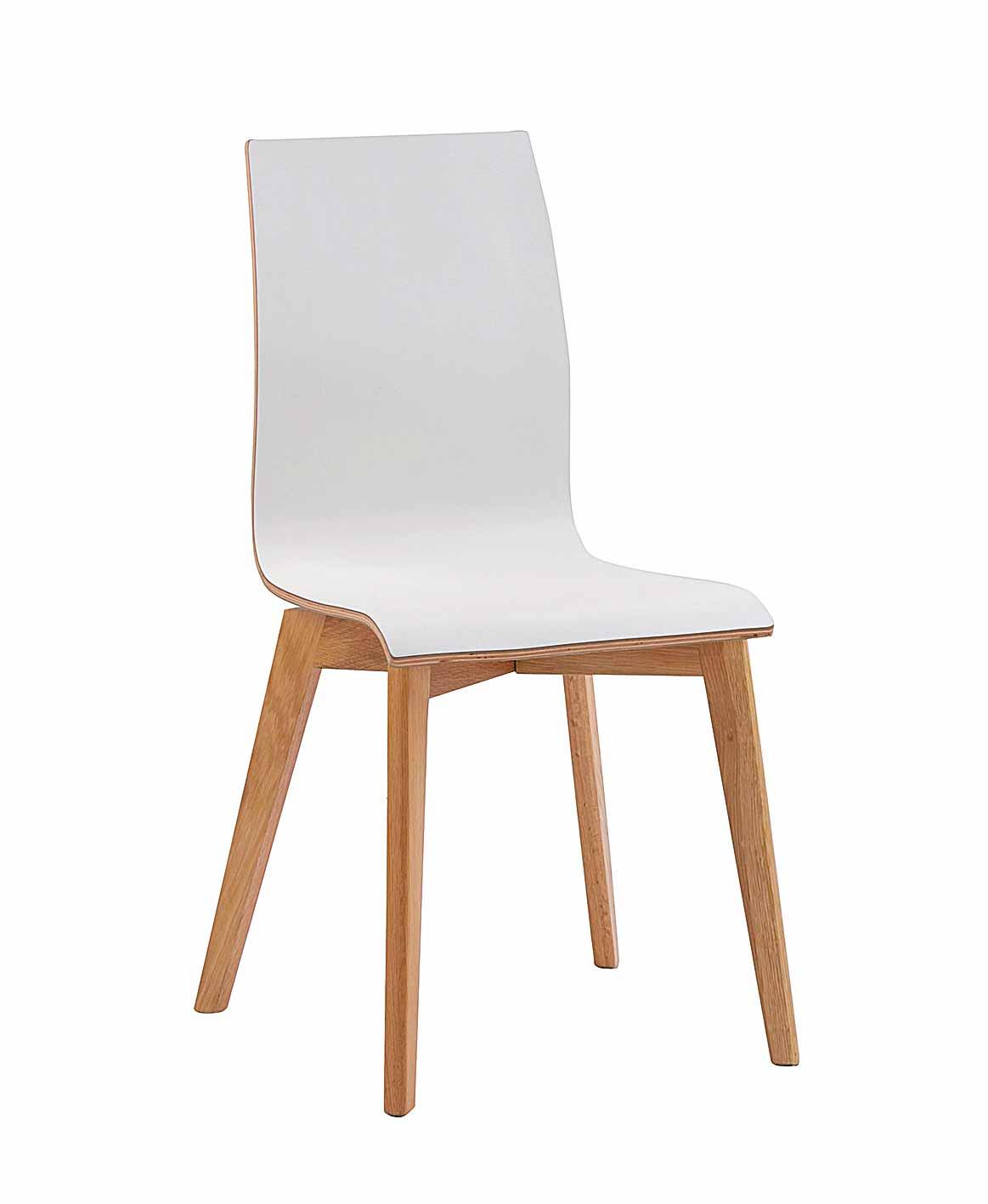 ROWICO Grace spisebordsstol - hvid laminat/egetræ