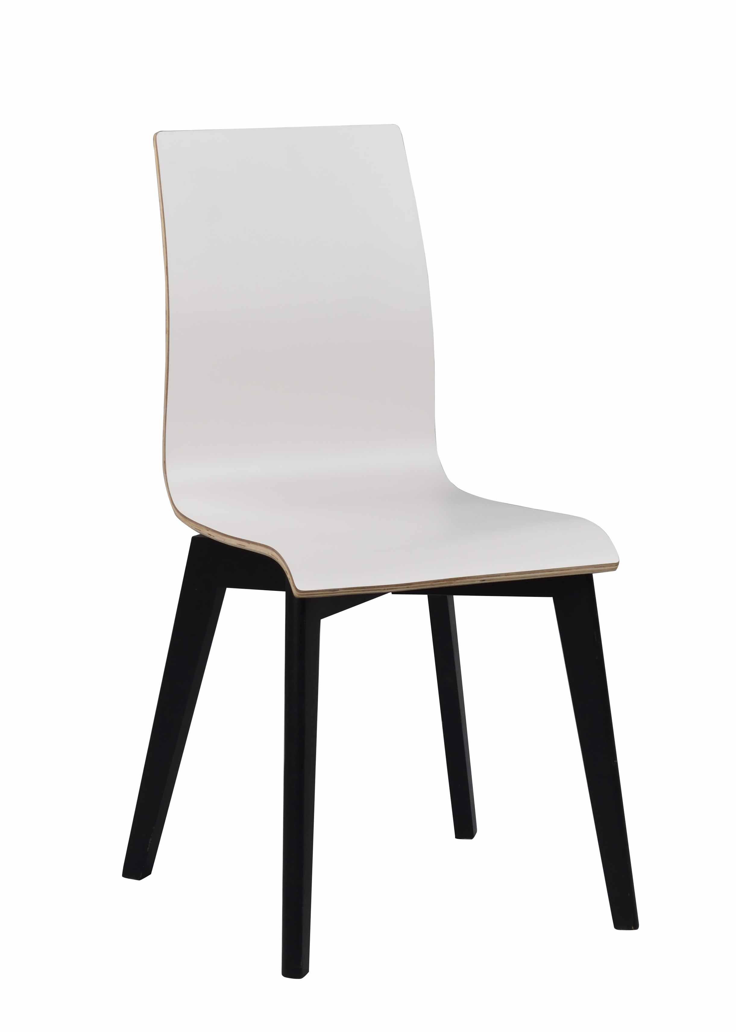 ROWICO Gracy spisebordsstol - hvid laminat/sort eg