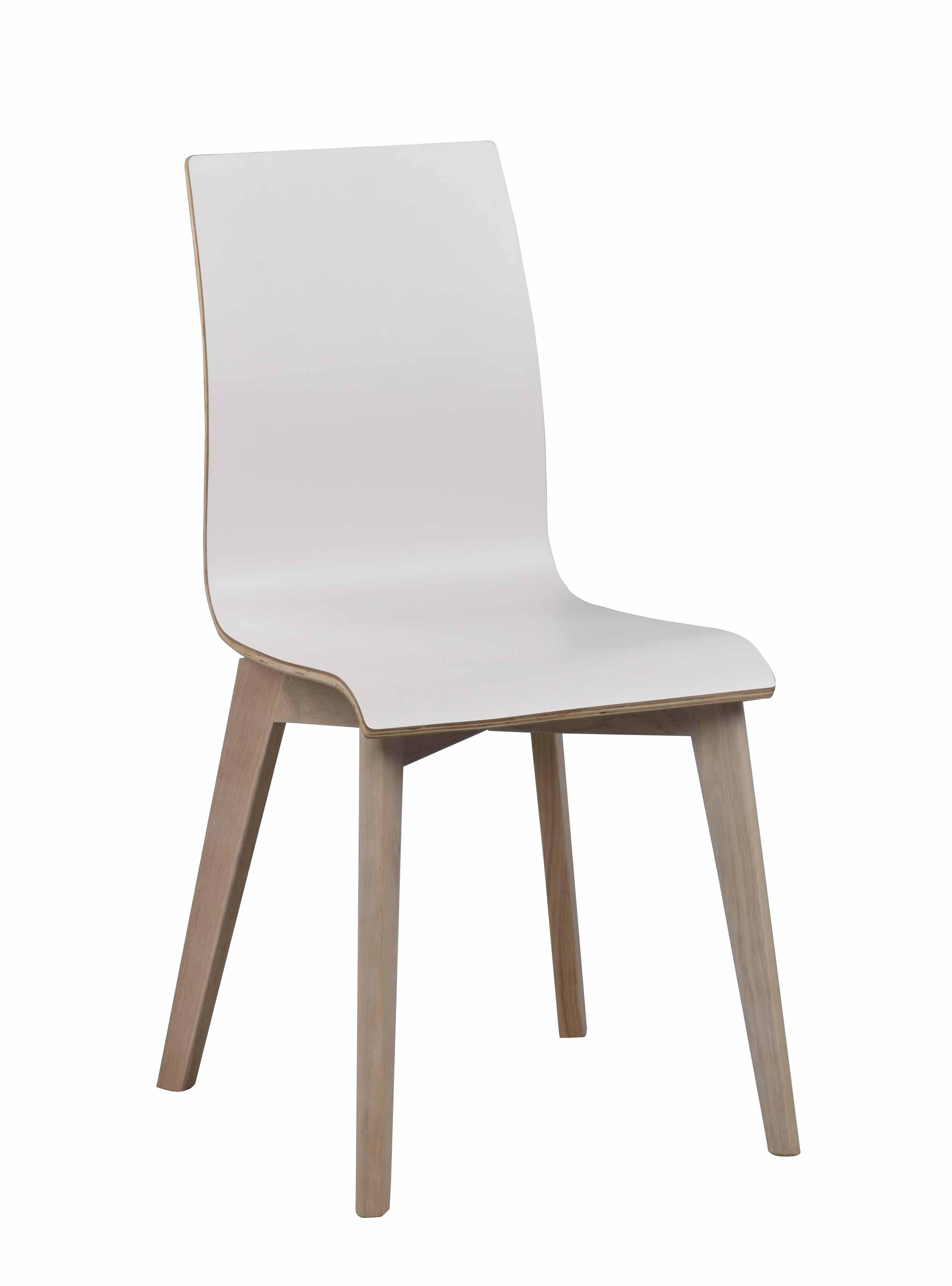 Grace spisebordsstol - hvid laminat/hvidpigmenteret eg