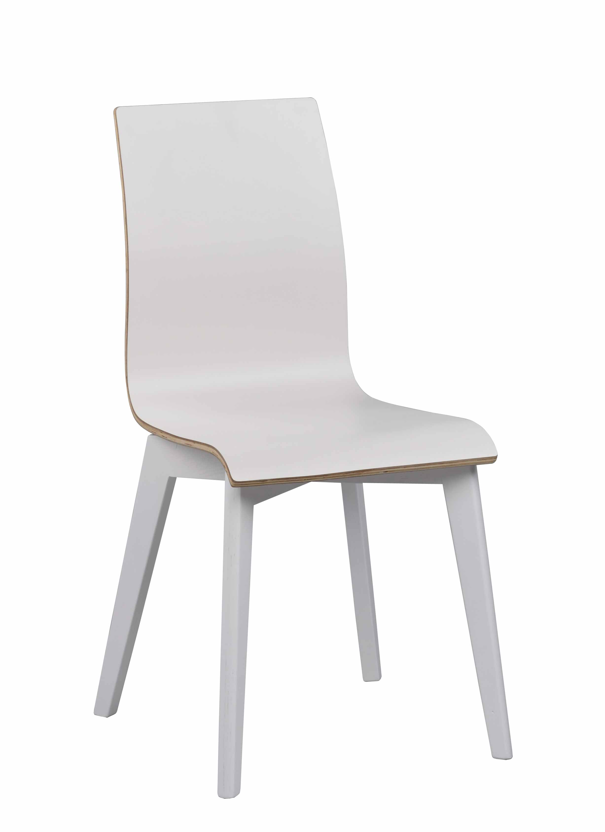 Grace spisebordsstol - hvid laminat/hvid birk