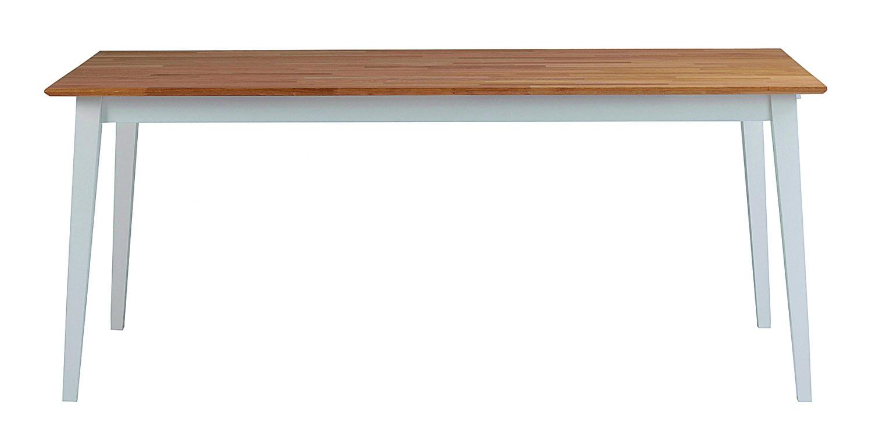 Filippa spisebord - hvid/natur eg, m. udtræk (180x90)