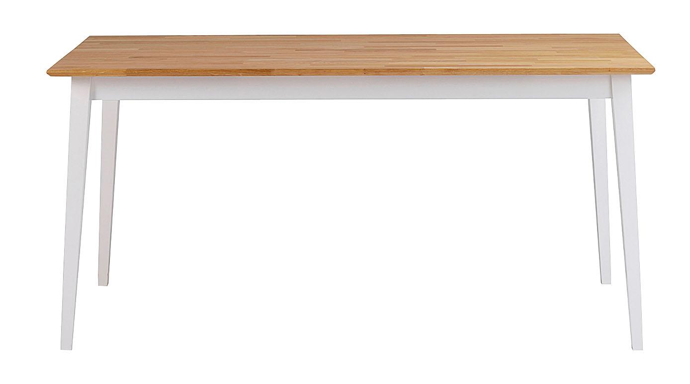 Filippa spisebord - natur/hvid eg, m. udtræk (140x90)