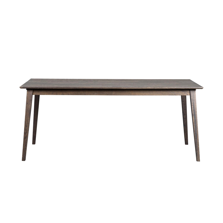 ROWICO rektangulær Filippa spisebord m. udtræk - mørkebrun eg (180x90)
