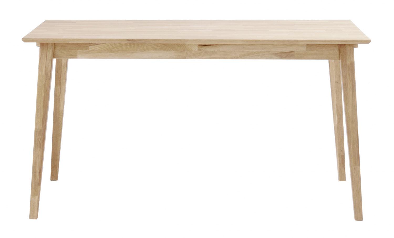 Filippa spisebord - hvidpigmenteret eg m. udtræk (140x90)