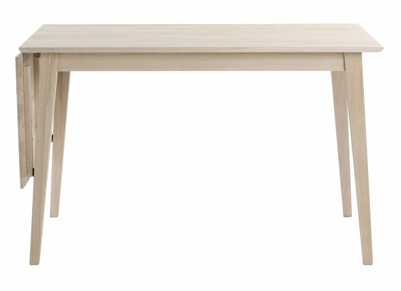 Filippa spisebord - hvidolieret eg m. klap (80x120+45) thumbnail