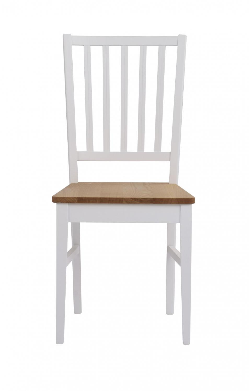 Filippa spisebordsstol - hvid/natur egetræ