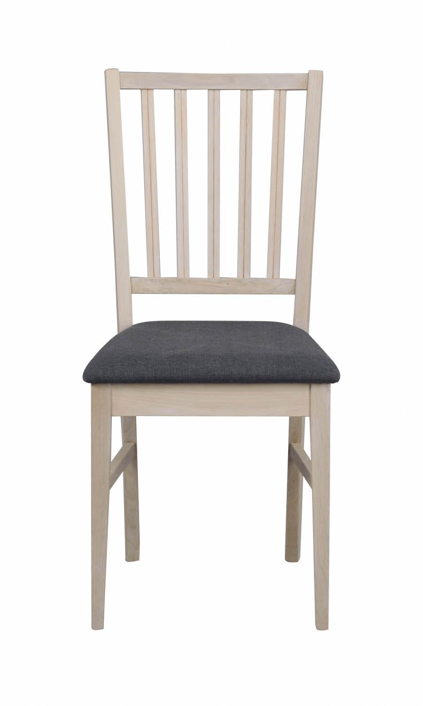 Filippa spisebordsstol - hvidpigmenteret eg/grå stofhynde