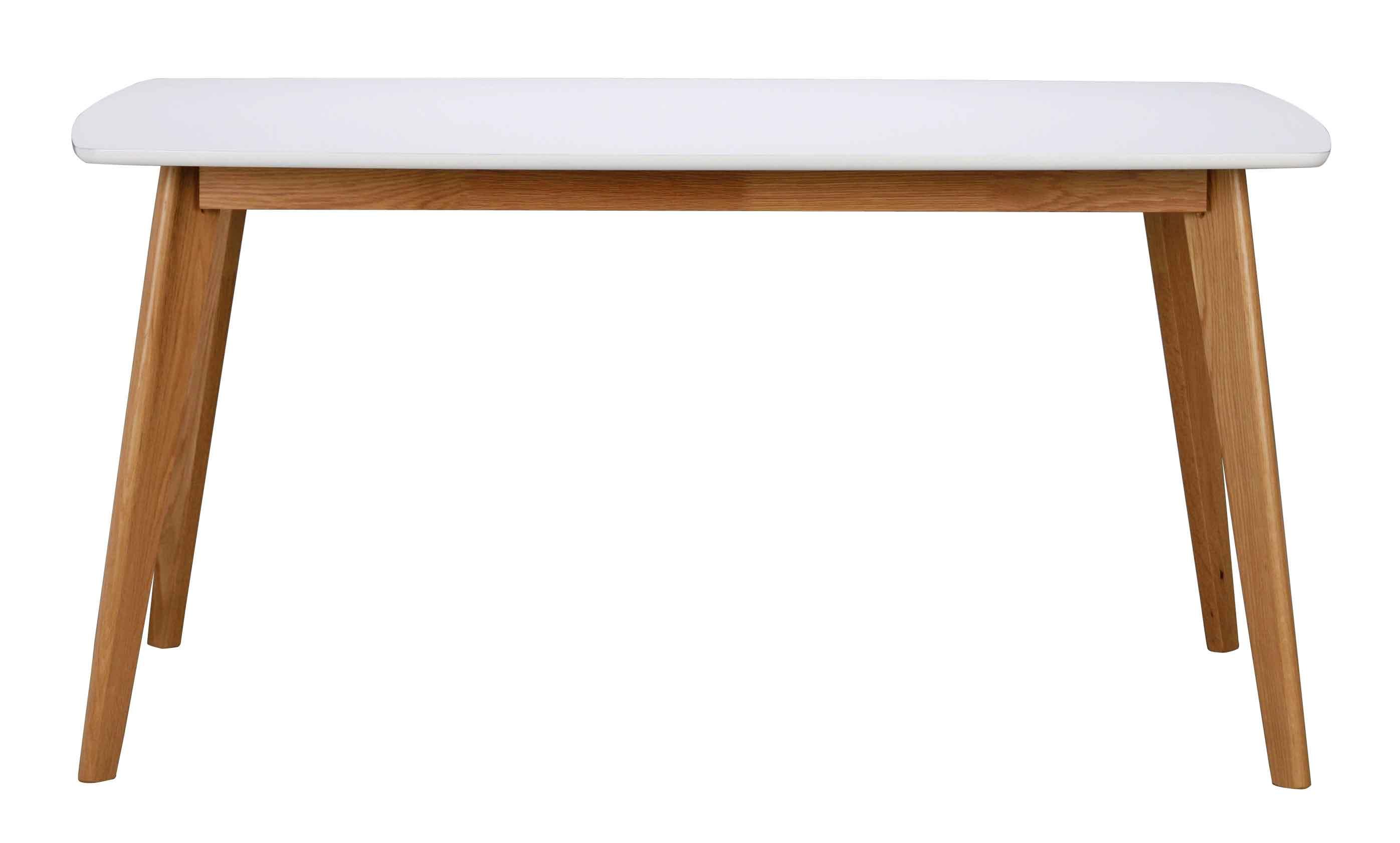 Olivia spisebord - hvid/eg m. udtræk (150x90)