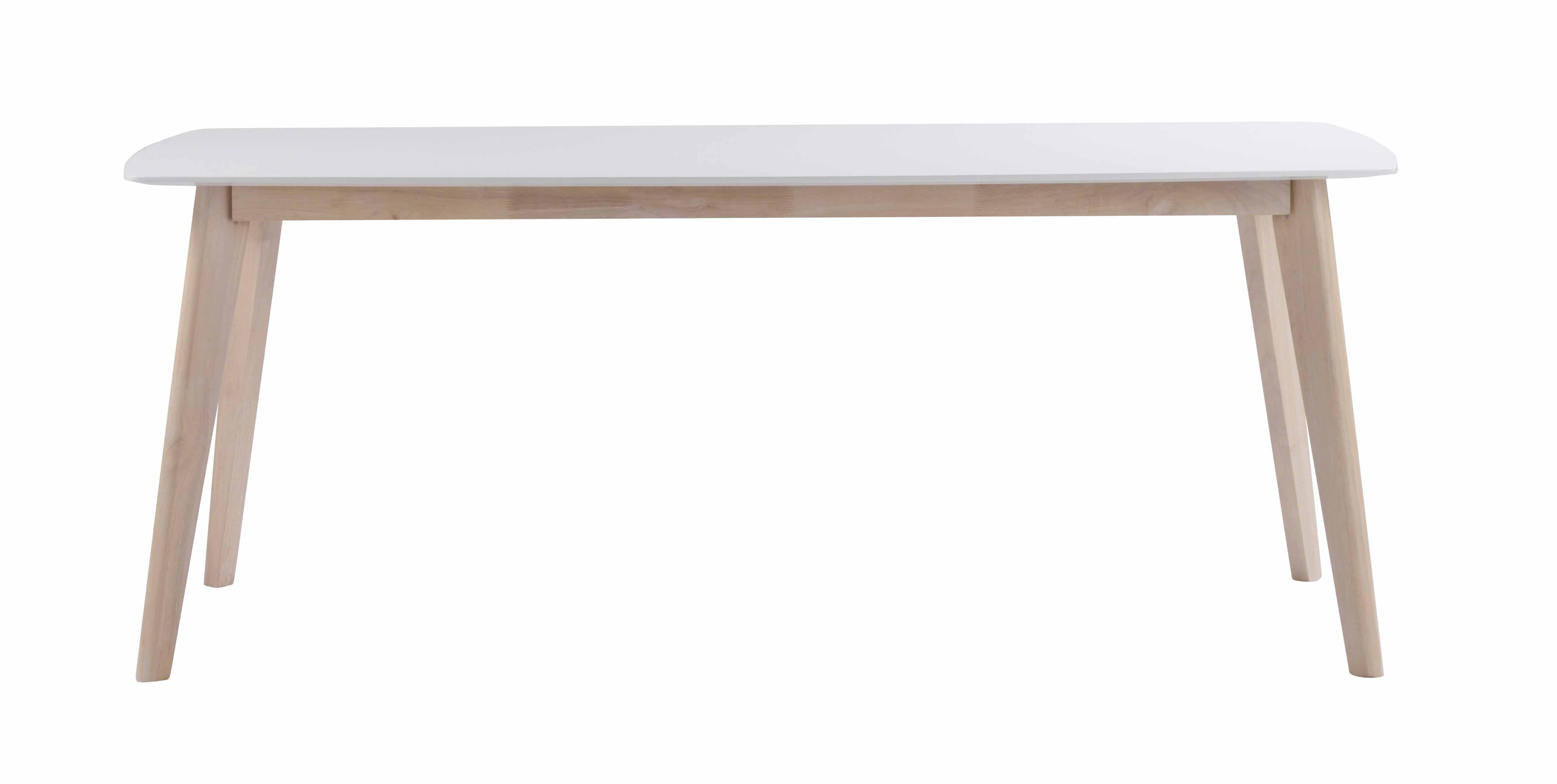 Sanna spisebord - hvid/hvidpigmenteret egetræ, m. udtræk (190x90)