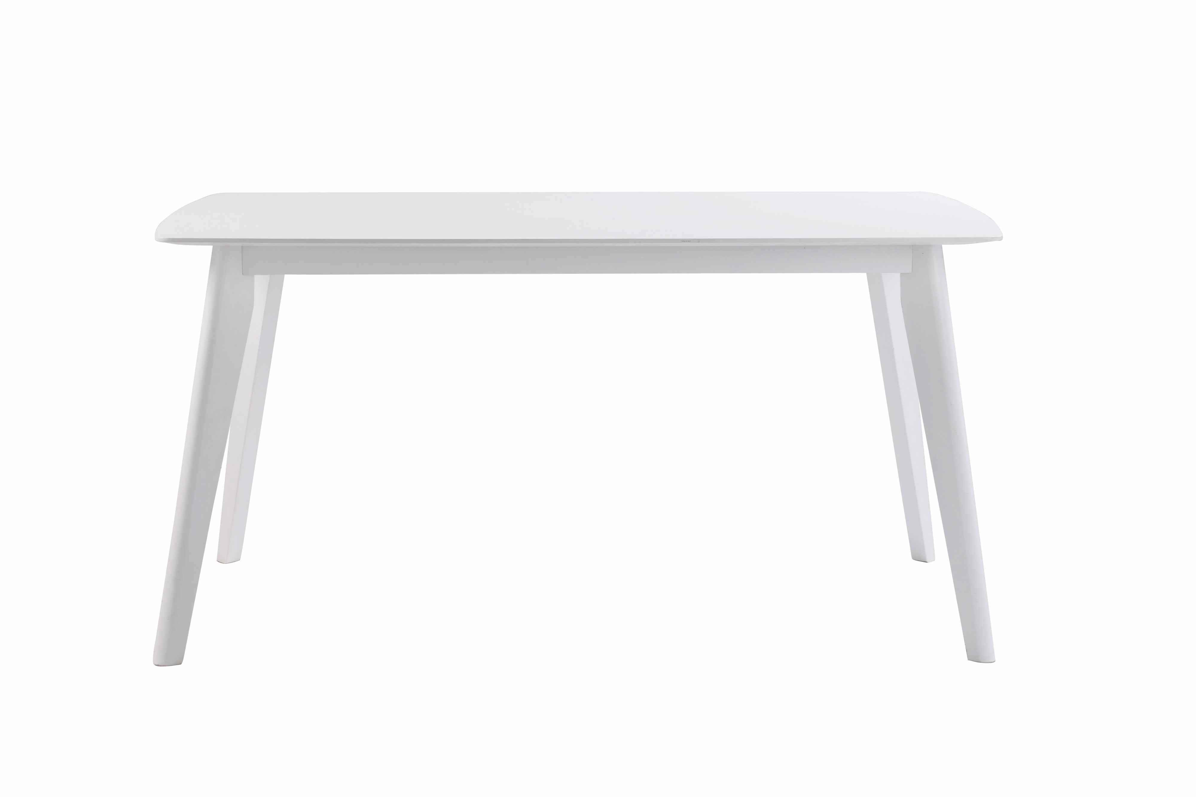 Sanna spisebord - hvidt egetræ, m. udtræk (150x90)