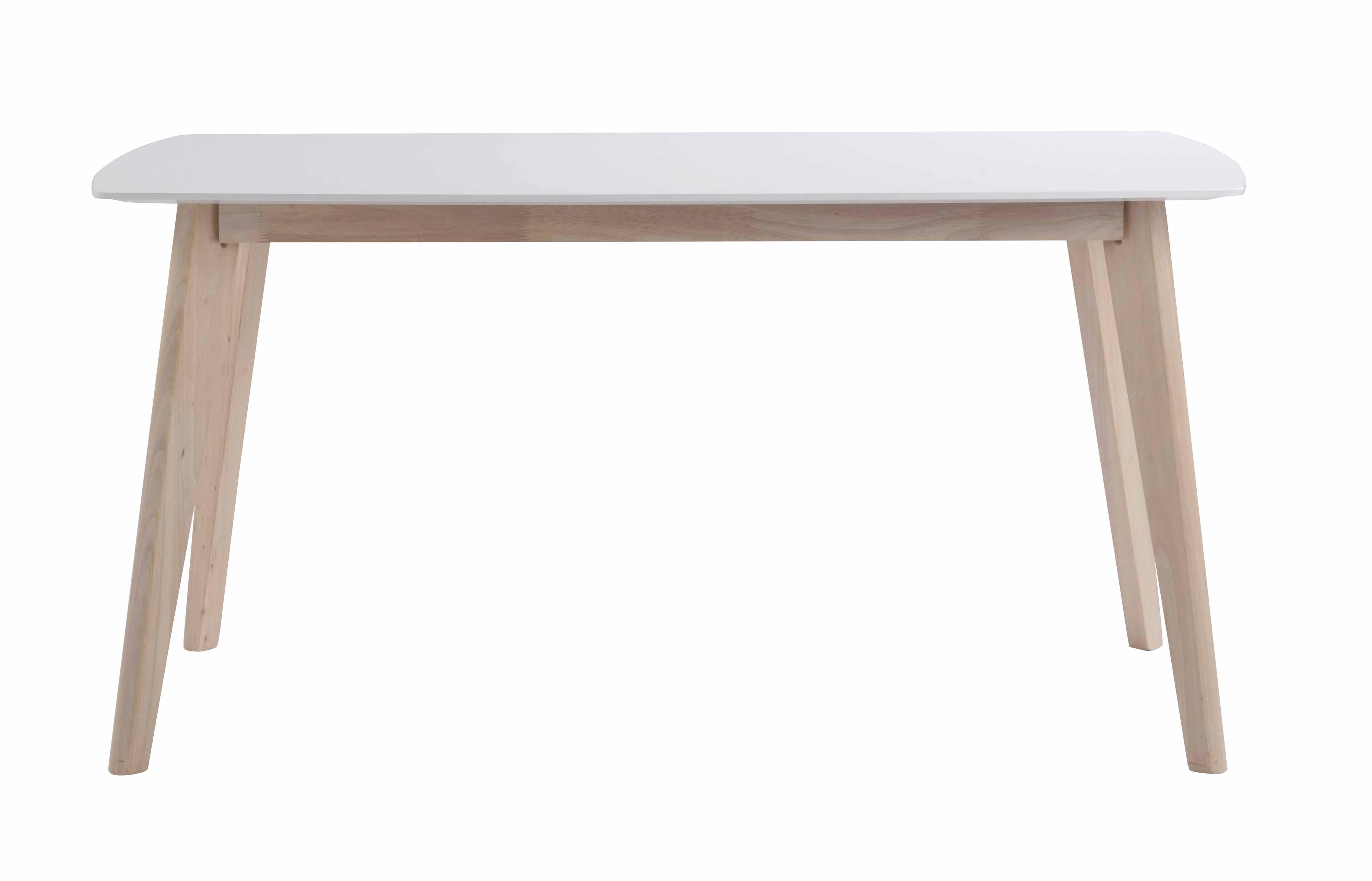 Sanna spisebord - hvid/hvidpigmenteret træ, m. udtræk (150x90)