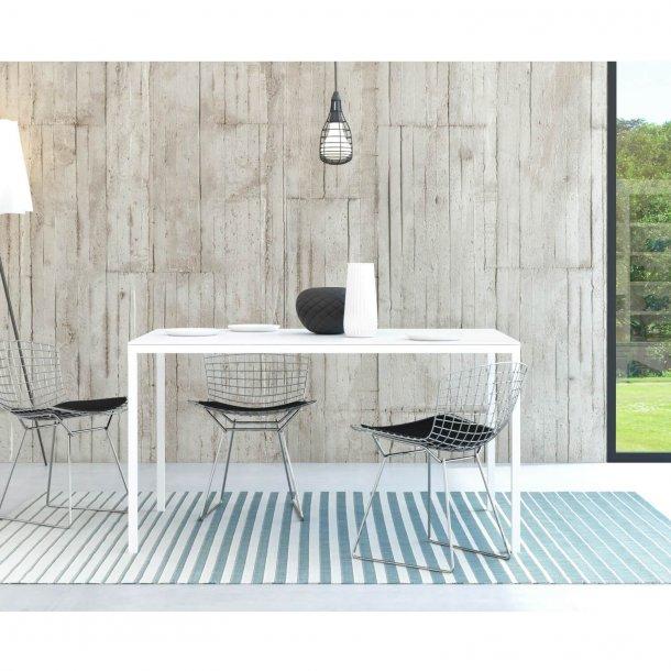 Family spisebord i hvid træ - 140x90
