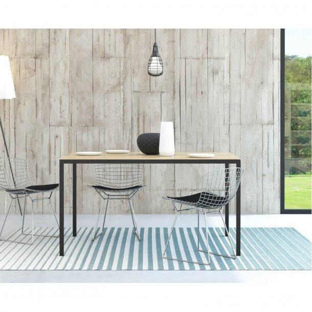 Family spisebord eg/sort træ - 140x90