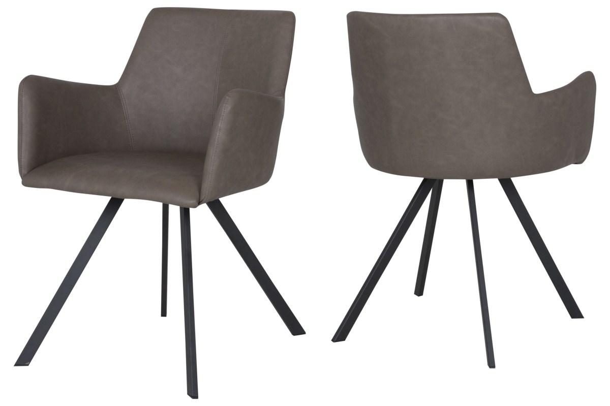 Canett locus spisebordsstol m. armlæn - brun fra canett fra boboonline.dk