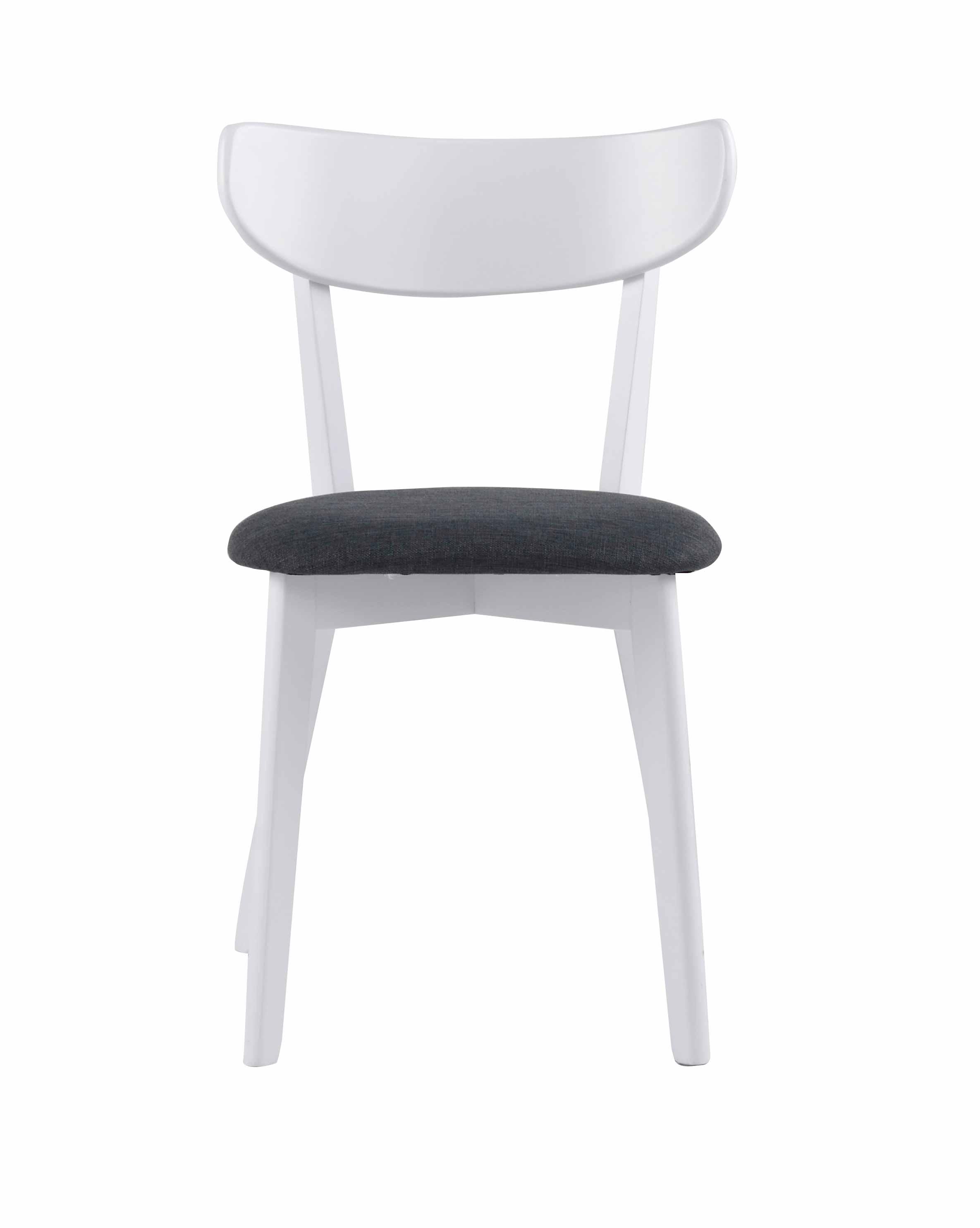 Sanna spisebordsstol - Hvidt egetræ, grå stof hynde