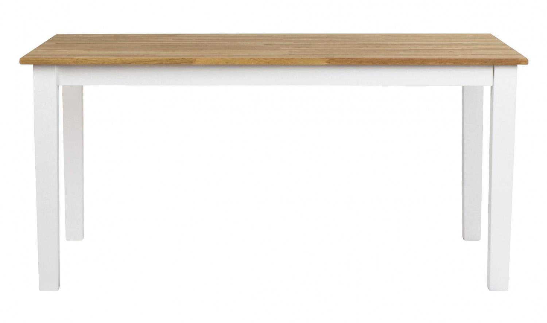 Linus spisebord - massiv eg/hvid m. udtræk (180x90)