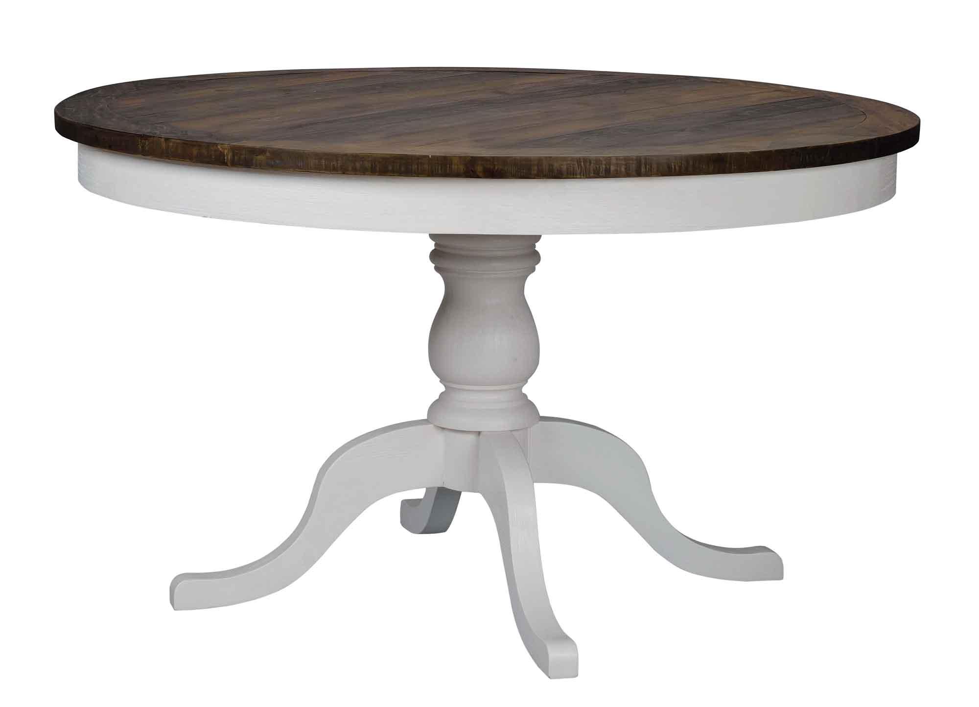 Nottingham spisebord - brun/hvid, rund (Ø130)