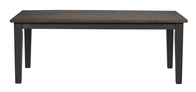 ROWICO Nottingham spisebord - brun/grå m. udtræk (200x100)