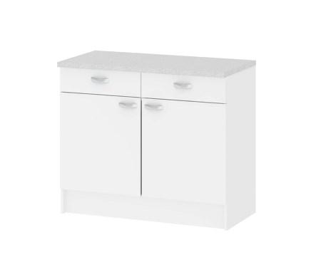 billig hvid tek kken ideel til lejlighed og bryggers. Black Bedroom Furniture Sets. Home Design Ideas