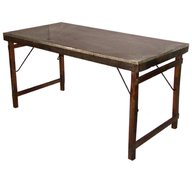 Image of   SJÄLSÖ NORDIC Spisebord i træ og genbrugsmetal