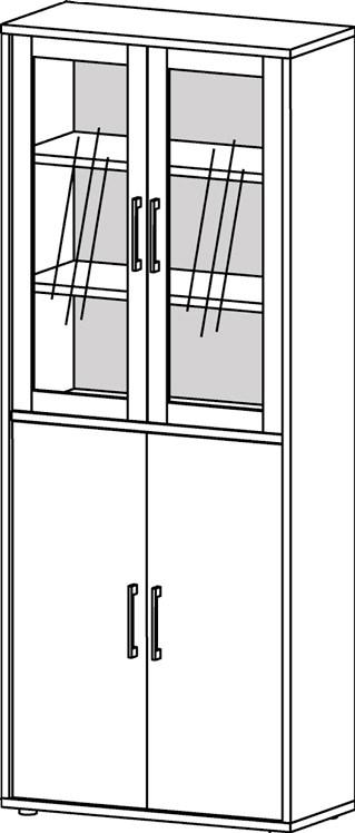 Prima vitrineskab/reol - Eg