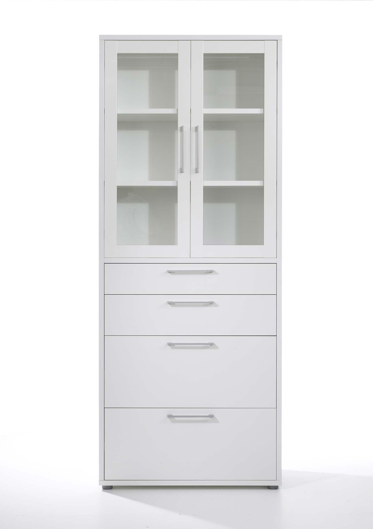 Prima vitrineskab - Hvid