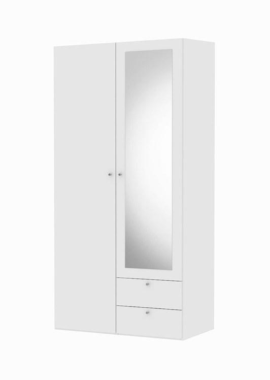 Billede af Save garderobeskab hvid (100 cm) m. 2 låger og skuffer