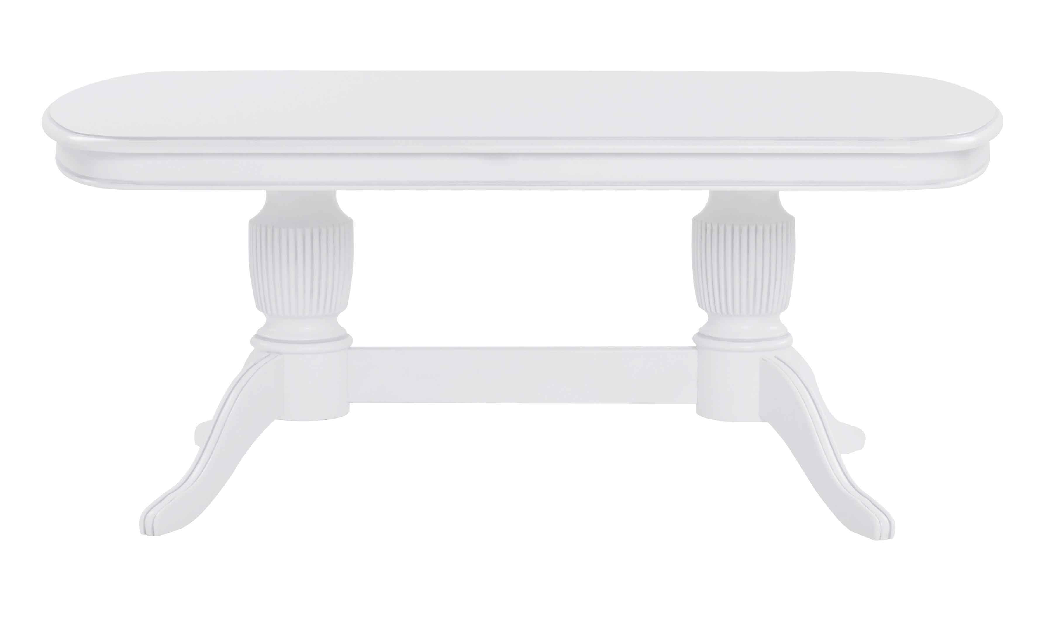 Sofabord Hvidt Ovalt Baci Living Room