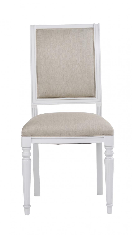 Mozart spisebordsstol - hvid/beige