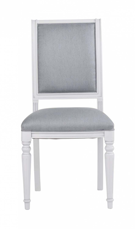 Mozart spisebordsstol - hvid/blå grå