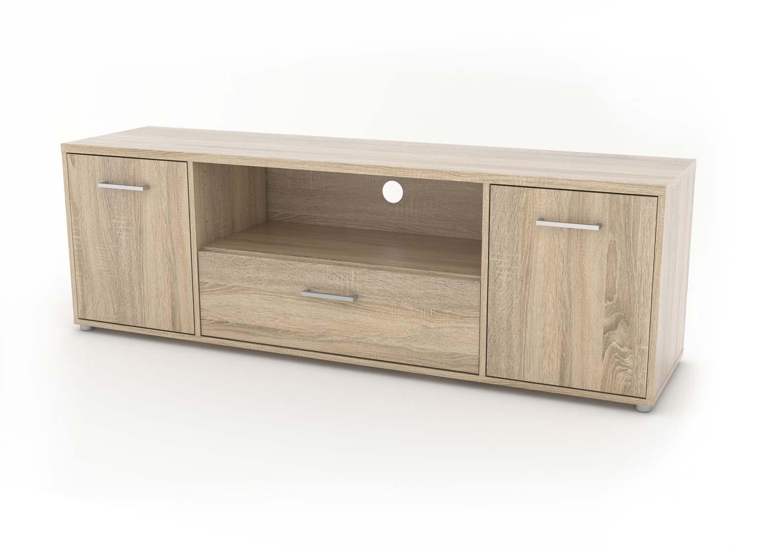 Image of   Match TV-bord med opbevaring - Eg