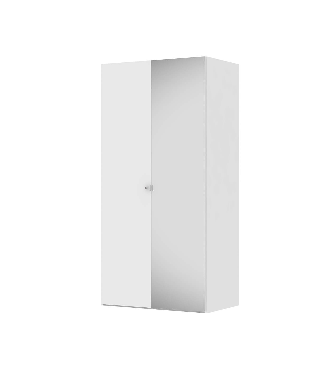Billede af Save garderobeskab (100 cm) i hvid med spejl