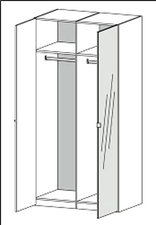 Ungdommelige Billigt Save garderobeskab (100 cm) i hvid med spejllåge DI92