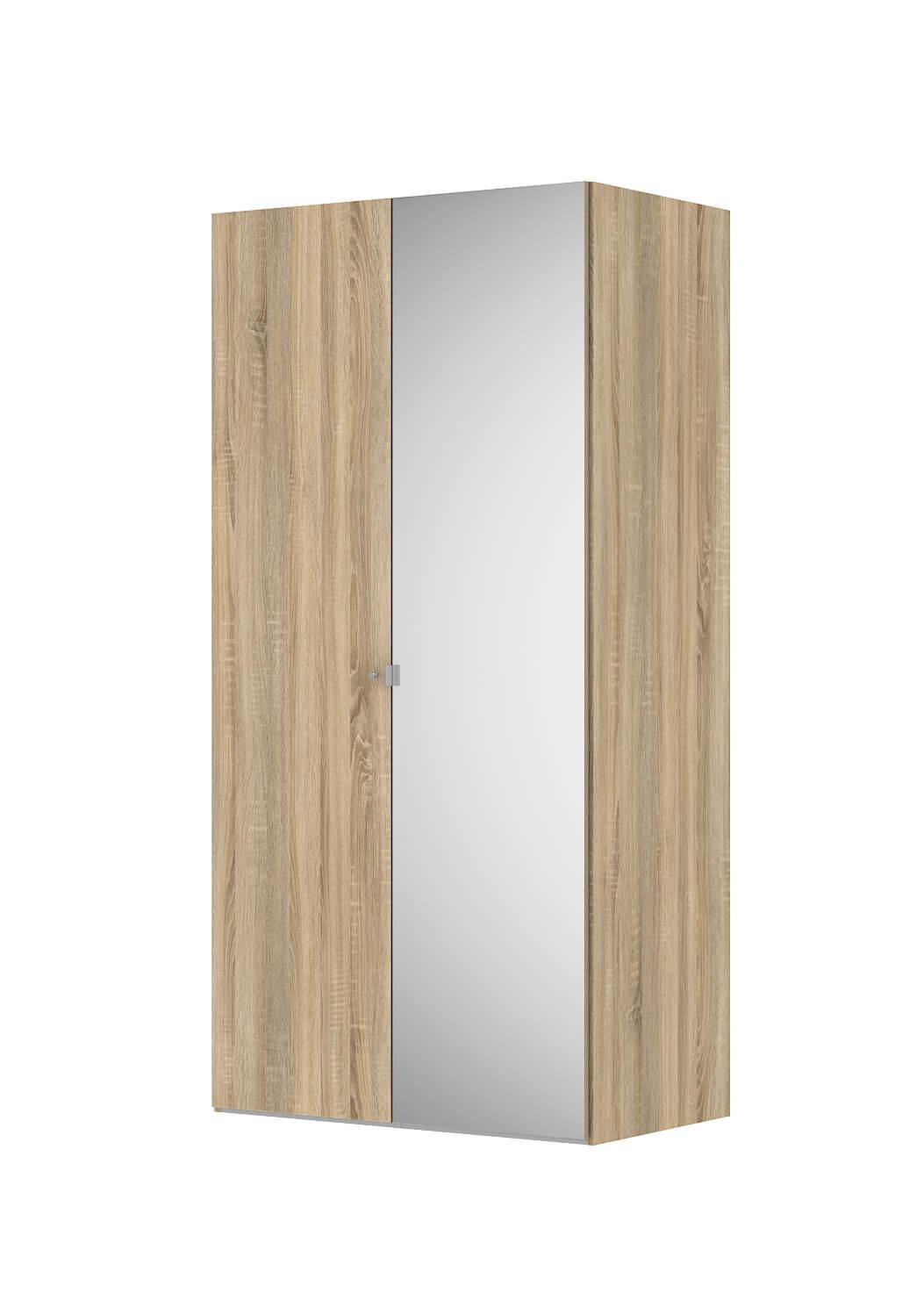 Billede af Save garderobeskab (100 cm) i eg struktur med spejl